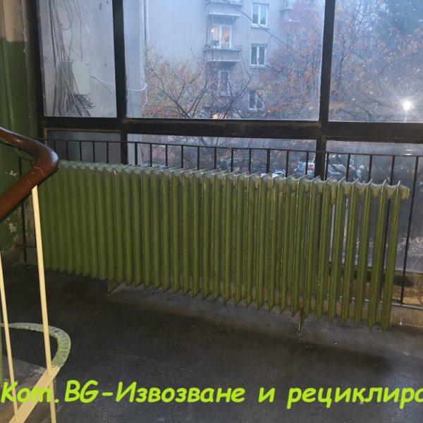 извозване на радиатори от входове